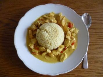 Pfannengericht - Fruchtiges Chickencurry - Rezept