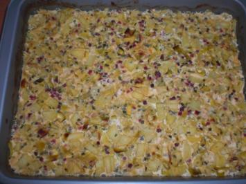 Kartoffel-Lauch-Auflauf mit Schinken - Rezept