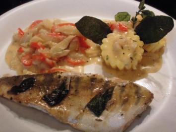 Zander mit Salbei dazu Fenchel/Paprika Gemüse und Polenta - Rezept