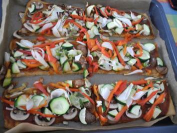 Rezept: Vegan : Große Gemüse - Pizza
