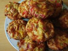 Herzhafte Muffins-Pizzamuffins - Rezept