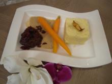 Geschmorte Kalbsbäckchen mit Selleriekartoffelstampf und Orangenmöhrchen - Rezept