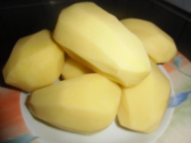 Vegetarischer Kartoffelsalat mit Schnitzelstreifen im Ausbackteig - Rezept - Bild Nr. 2