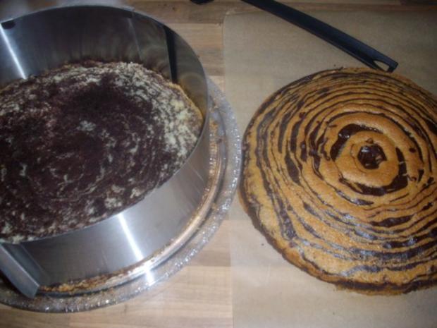 zebra-erdbeer -vanillesahne kuchen - Rezept - Bild Nr. 9