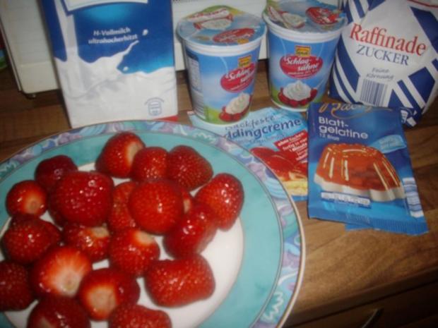 zebra-erdbeer -vanillesahne kuchen - Rezept - Bild Nr. 10