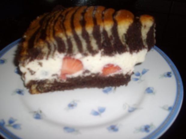 zebra-erdbeer -vanillesahne kuchen - Rezept - Bild Nr. 3
