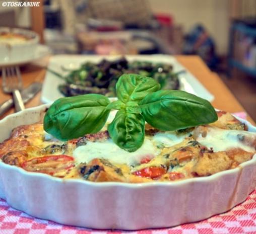 Baguette-Tomaten-Auflauf mit Parmesan-Guss - Rezept - Bild Nr. 16