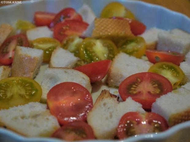 Baguette-Tomaten-Auflauf mit Parmesan-Guss - Rezept - Bild Nr. 4