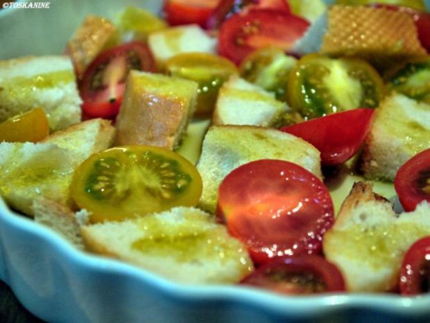 Baguette-Tomaten-Auflauf mit Parmesan-Guss - Rezept - Bild Nr. 5