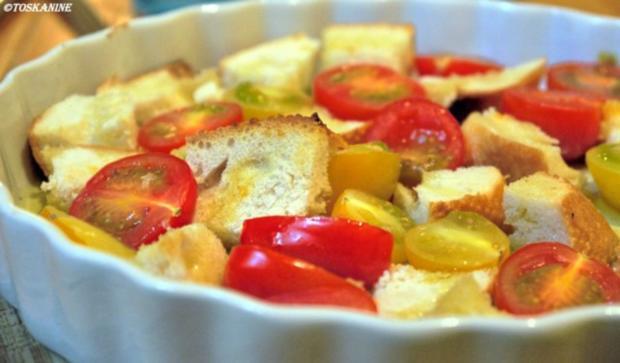 Baguette-Tomaten-Auflauf mit Parmesan-Guss - Rezept - Bild Nr. 14