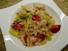 Fruchtige Reis-Hähnchen-Gemüsepfanne - Rezept