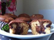 Heidelbeer-Cappucino-Mamor-Muffins - Rezept