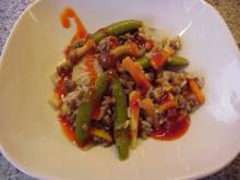 Hack-Gemüsepfanne Asia-Style - Rezept