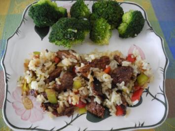 Vegan : Bunte Reis - Gemüse - Pfanne - Rezept