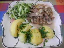 Vegan : Seitan - Champignons - Pfanne mit Kokossahne - Rezept