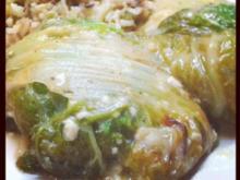 Kohlrouladen mit Reisfüllung - Rezept