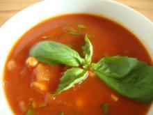 Weisse Bohnen - Tomatensüppchen - Rezept