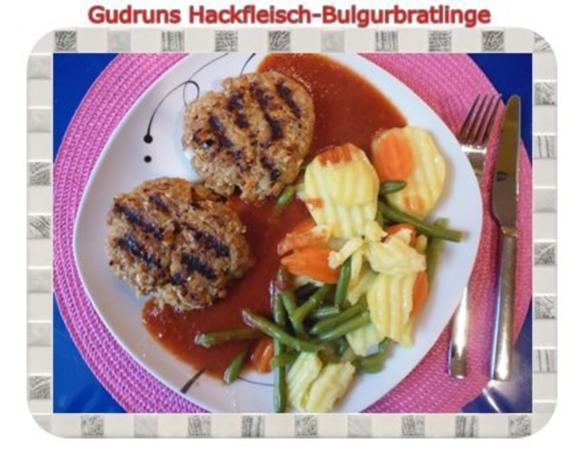 Hackfleisch: Bulgur-Hackfleisch-Bratlinge mit gedämpften Gemüse - Rezept - Bild Nr. 20