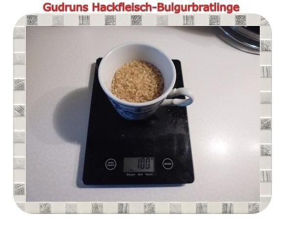 Hackfleisch: Bulgur-Hackfleisch-Bratlinge mit gedämpften Gemüse - Rezept - Bild Nr. 2