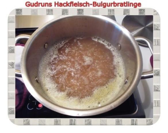 Hackfleisch: Bulgur-Hackfleisch-Bratlinge mit gedämpften Gemüse - Rezept - Bild Nr. 3