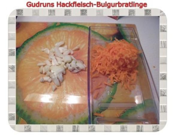 Hackfleisch: Bulgur-Hackfleisch-Bratlinge mit gedämpften Gemüse - Rezept - Bild Nr. 5