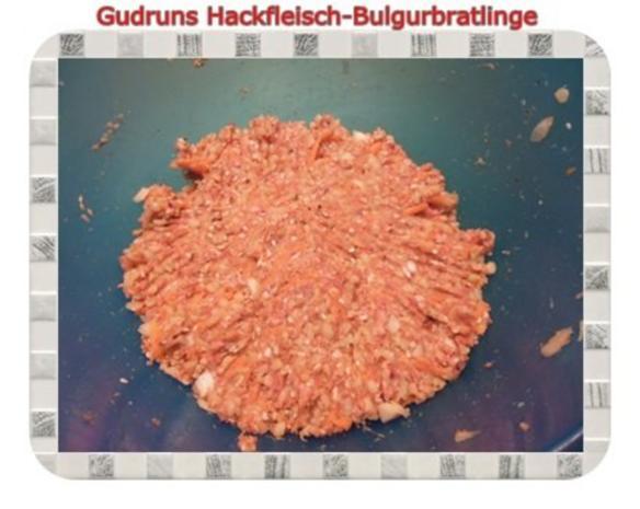 Hackfleisch: Bulgur-Hackfleisch-Bratlinge mit gedämpften Gemüse - Rezept - Bild Nr. 7
