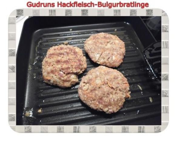 Hackfleisch: Bulgur-Hackfleisch-Bratlinge mit gedämpften Gemüse - Rezept - Bild Nr. 8