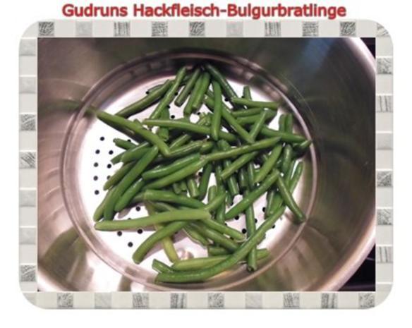 Hackfleisch: Bulgur-Hackfleisch-Bratlinge mit gedämpften Gemüse - Rezept - Bild Nr. 9