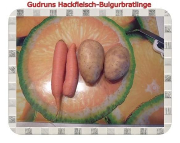 Hackfleisch: Bulgur-Hackfleisch-Bratlinge mit gedämpften Gemüse - Rezept - Bild Nr. 10