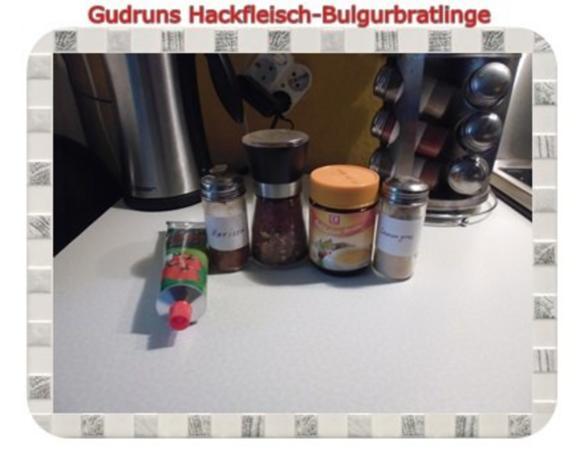 Hackfleisch: Bulgur-Hackfleisch-Bratlinge mit gedämpften Gemüse - Rezept - Bild Nr. 12