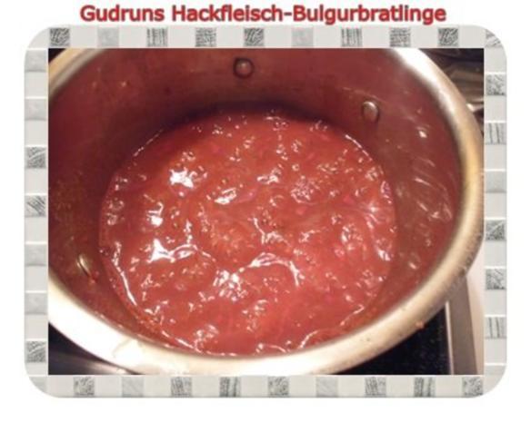 Hackfleisch: Bulgur-Hackfleisch-Bratlinge mit gedämpften Gemüse - Rezept - Bild Nr. 15