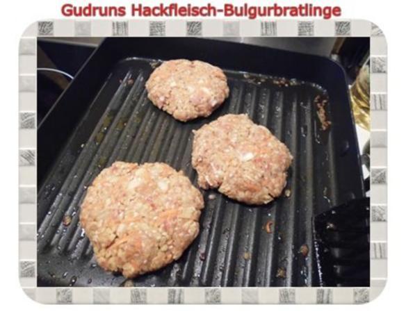 Hackfleisch: Bulgur-Hackfleisch-Bratlinge mit gedämpften Gemüse - Rezept - Bild Nr. 16