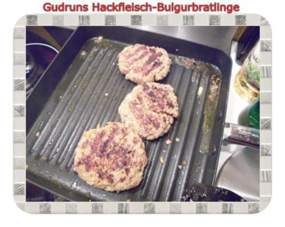 Hackfleisch: Bulgur-Hackfleisch-Bratlinge mit gedämpften Gemüse - Rezept - Bild Nr. 18