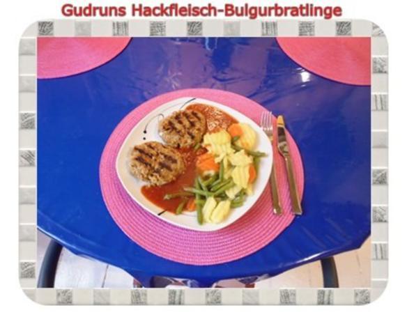 Hackfleisch: Bulgur-Hackfleisch-Bratlinge mit gedämpften Gemüse - Rezept - Bild Nr. 19