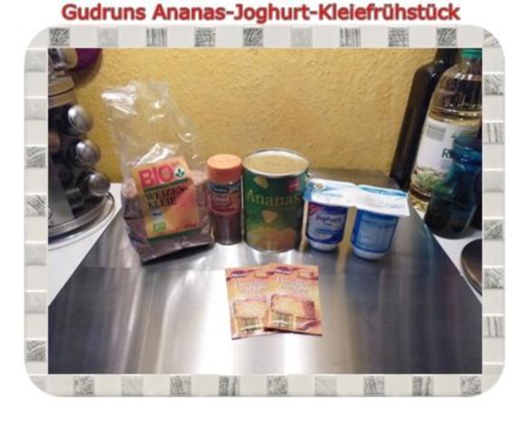 Frühstück: Ananas-Joghurt-Kleiefrühstück - Rezept - Bild Nr. 2