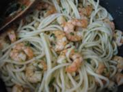 Scharfe Spaghetti mit Garnelen - Rezept