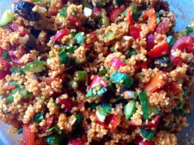 Couscous Salat mit Hirse - Rezept