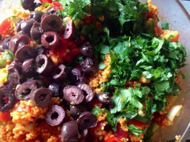 Couscous Salat mit Hirse - Rezept - Bild Nr. 7