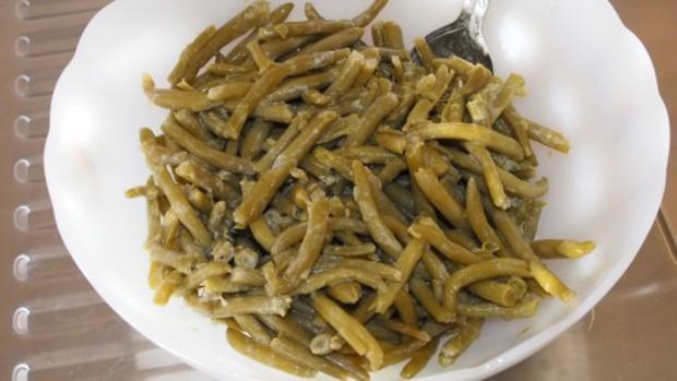 Lauwarmer Bohnensalat - Rezept