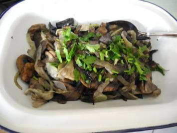 Rezept: Vegan : Beilage : Champignons - Fenchel - Pfanne