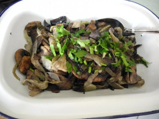 Vegan : Beilage : Champignons - Fenchel - Pfanne - Rezept