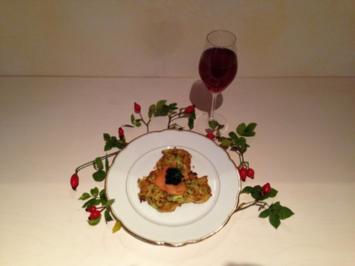Zucchini mit Lachs & Kaviar - Rezept