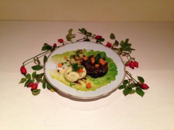 Geschmorter Ochsenschwanz an Thymianjus mit Schneebällchen - Rezept