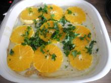 Vegan : Weißen Spargel unter Orangenscheiben - Rezept
