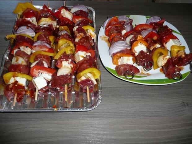 Grillparty : Hirtenspieße & diverse Salate ! - Rezept - Bild Nr. 4