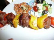 Grillparty : Hirtenspieße & diverse Salate ! - Rezept