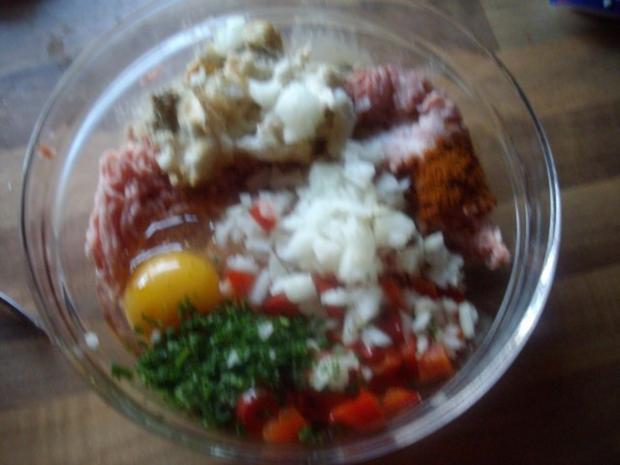paprika-feta frikadellen - Rezept - Bild Nr. 3