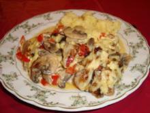 Hähnchen-Champignon-Schnitzel - Rezept