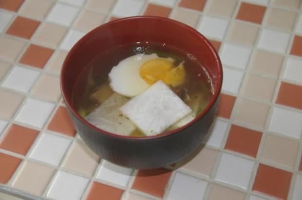 Japanische Nori-Ei Suppe - Rezept