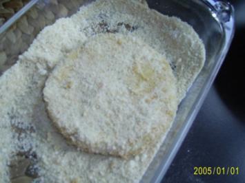 Rezept: Ohne Fleisch: panierte Sellerie-Schnitzel & Rucolasalat